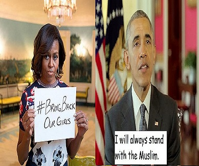 michelle obama bring back our girls Barack Obama stand with the Muslim