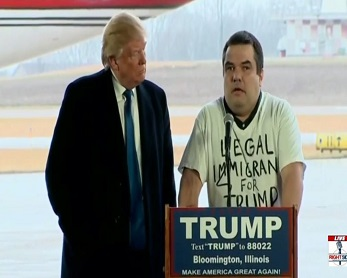 screenshot legal immigrant for donald trump bloomington illinois rally