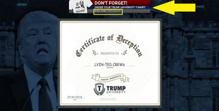 Ted Cruz Fake Trump University Diplomas 002 Arrows CROPPED COMPRESSED