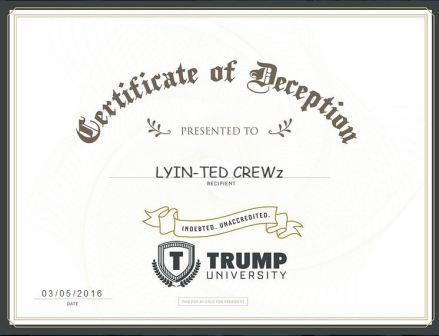 Ted Cruz Fake Trump University Diplomas COMPRESSED