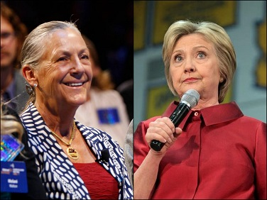 Alice Walton photo: Walmart/Hillary Clinton photo: Gage Skidmore/Flickr (cc)