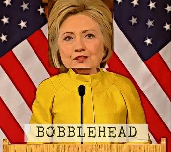 BE FUNKY Hillary Clinton Bobblehead 347