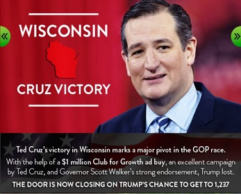 Club for Growth in support of Ted Cruz