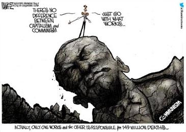 communism v capitalism cartoon by michael ramirez