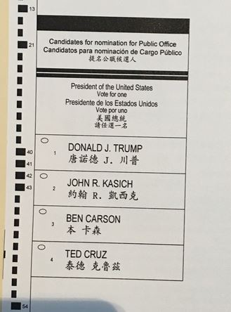 nyc gop ballot