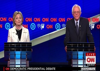 screenshot hill clinton booed when mentioning barack obama brooklyn debate