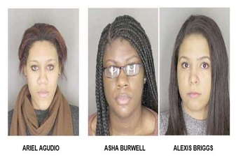 Ariel Agudio, Asha Burwell and Alexis Briggs Albany SUNY students indicted for filing racially motivated report