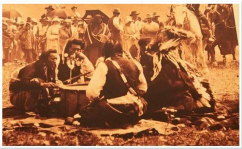 Nez Perce Drummers on the Colville Indian Reservation
