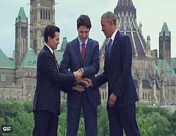 BE FUNKY The three stooges Enrique Pena Nieto - Trudeau - Barack Obama