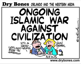 Dry Bones Islamic war against Civilization cartoon