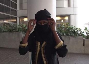 Muslim woman at LAX day after Orlando Florida Islamic terrorist attack making terror threats screenshot 3