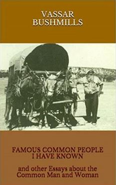 Vassar Bushmills book Famous Common People I Have Known