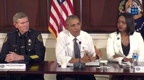 Obama's body language not pro-police.