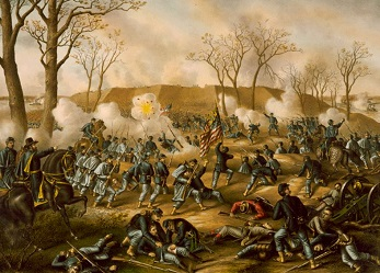 battle of fort donelson by kurz and allison source wikipedia public domain RESIZED