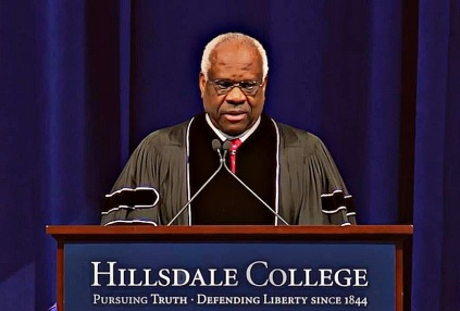 BE FUNKY Supreme Court Justice Clarence Thomas at Hillsdale College screenshot 2