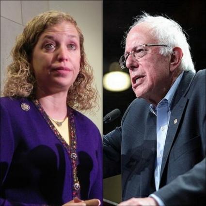 Debbie Wasserman Schultz Bernie Sanders Collage_Fotor