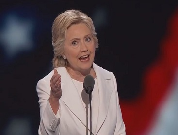 screenshot hillary clinton dnc speech