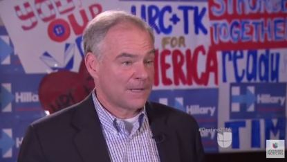 screenshot tim kaine univision