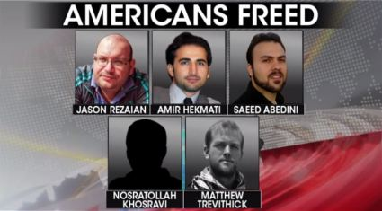 five Iran hostages released