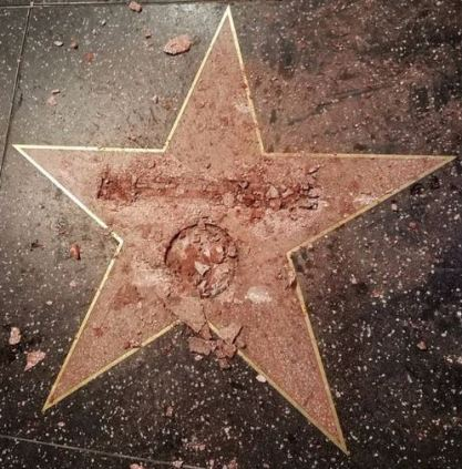 donald-trump-star-on-hollywood-walk-of-fame-destroyed-by-james-otis