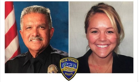 Palms Springs Police Officer, Lesley Zerebny, age 27 and Police Officer, Jose Gilbert Vega, age 63