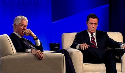 Q&A - Closing Plenary at CGI U 2013 - Bill Clinton and Stephen Colbert (screenshot)