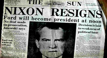 nixon-resigns-headlines-and-article-the-sun-367-x-299