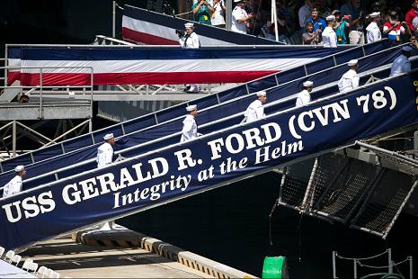 """Source: USS Gerald R. Ford - CVN 78 (<a href=""""https://www.facebook.com/USSGeraldRFord/"""">Facebook</a>)"""