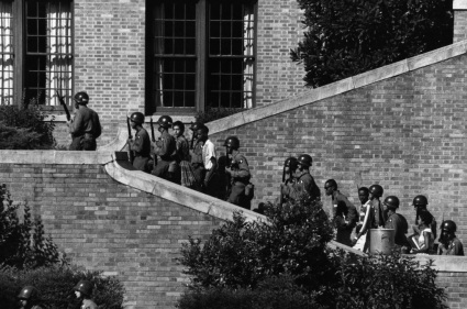 """<span style=""""font-size: 8pt;"""">101st Airborne at Little Rock Central High School Source: <a href=""""https://commons.wikimedia.org/wiki/File:101st_Airborne_at_Little_Rock_Central_High.jpg"""">Wikimedia</a></span>"""