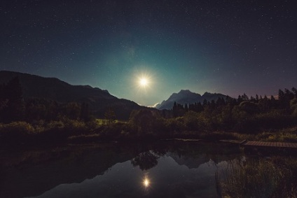 "<span style=""font-size: 8pt;"">Source: <a href=""https://pixabay.com/en/moonshine-lake-reflection-night-960797/"">Pixabay</a>, public domain.</span>"