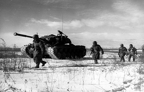 "<span style=""font-size: 8pt;"">Photo: Battle of Chosin Reservoir, Korean War by Corporal Peter McDonald, USMC - <a href=""https://commons.wikimedia.org/wiki/File:Chosin.jpg"">Wikimedia Commons</a>, Public Domain.</span>"
